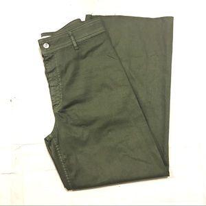 Zara Women's Green High Waist Flare Leg Pants